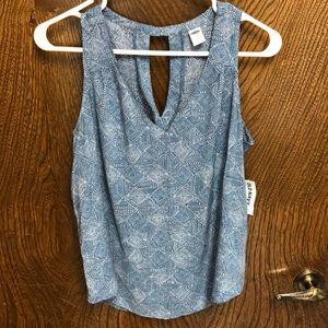 NWT Turquoise sleeveless blouse
